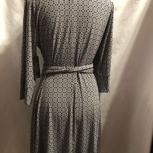 Laundry By Shelli Segal Dresses - Black and white wrap dress